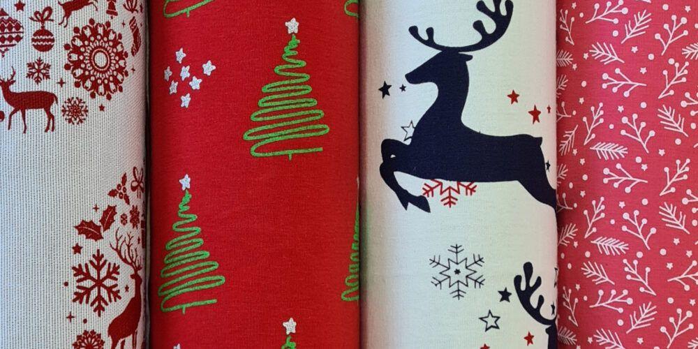 Tkaniny z nadrukami świątecznymi